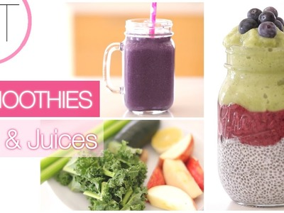 My Current Favorite Smoothies + Juices