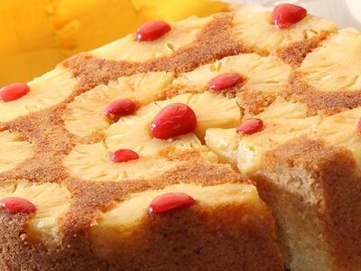 Pineapple Upside Down Cake | Easy 3 step recipe