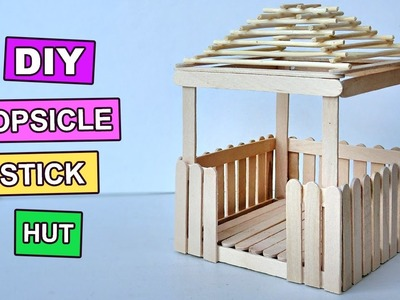 Popsicle Stick Crafts - Miniature Relaxing Hut #3