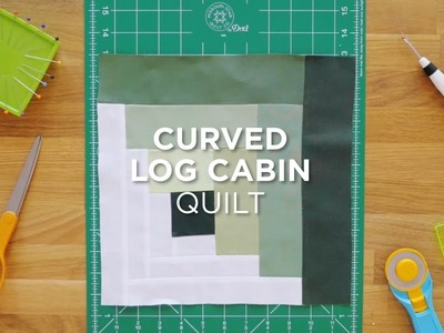 Quilt Snips Mini Tutorial - Curved Log Cabin