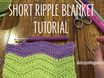 Ripple Baby Blanket Tutorial