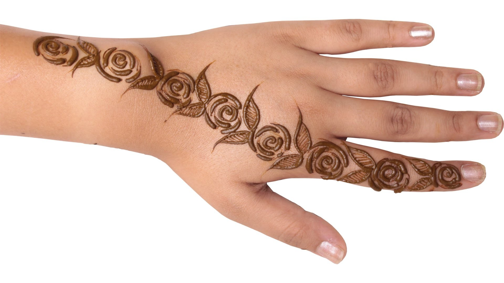 Mehndi Rose Designs For Hands : Rose mehndi design for hands my crafts and diy projects