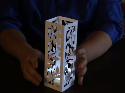ScanNCut Project: Leafy Votive Candle Holder