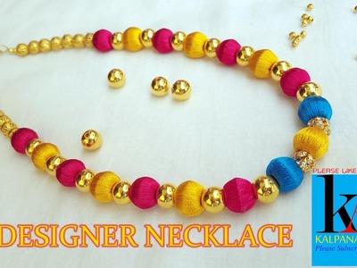 Silk Thread Designer Jewellery necklace Making video
