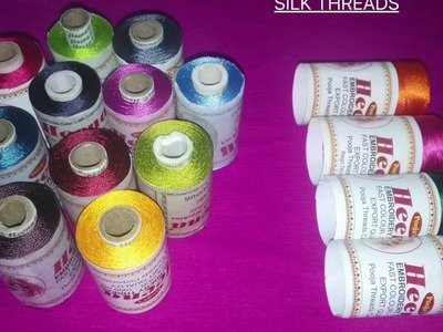Silk thread jewellery making kit
