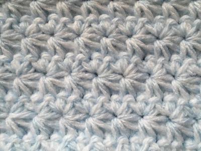 Star stitch baby blanket video tutorial