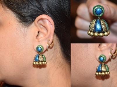 Terracotta Jhumka || Terracotta Jhumka Making || Terracotta Jewelry Making Jhumka |