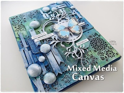 Texture Mixed Media Canvas Tutorial ♡ Maremi's Small Art ♡