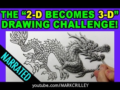 "The ""2-D Becomes 3-D"" Drawing Challenge: Narrated Version"