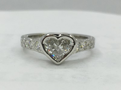 The making of a Heart shaped diamond ring