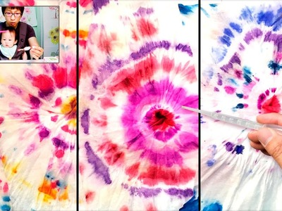 Tie-Dye Baby Wipes Painting Technique | Easy Fun Art Projects