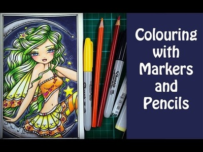 Tutorial: Colouring With Markers and Pencils.