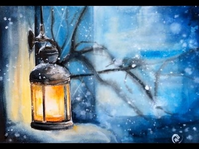 Watercolor Lantern Painting Demonstration
