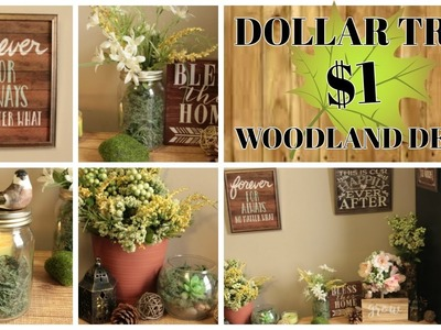 $1 DOLLAR TREE WOODLAND HOME DECOR IDEAS