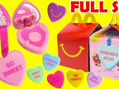 2017 Sweethearts Clip Gloss Lip Balms McDonald's Happy Meal Toys Full Set