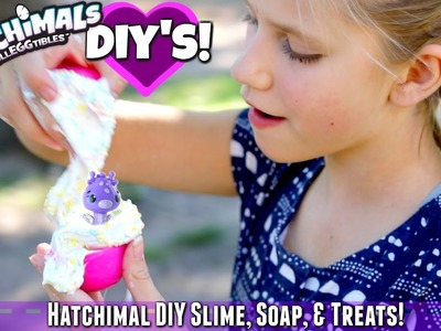 3 DIY's Fluffy Crunchy Hatchimal Slime without borax, Colleggtibles Soap, and Treats!
