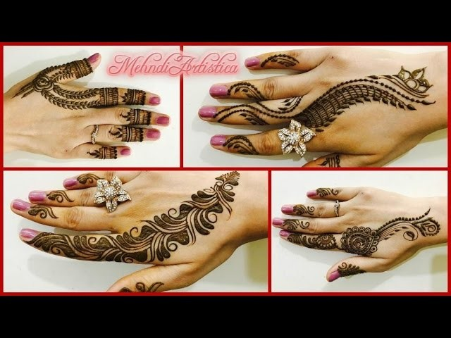 Mehndi Party Snacks : Easy beautiful mehndi designs for quick henna partylatest
