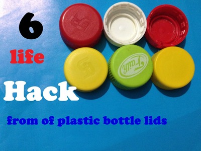 6 life hack can be made out of plastic bottle lids