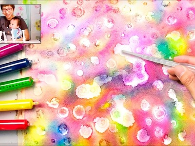 Alcohol Painting Technique   Coloring with Syringe Injection Easy Fun Art for Children
