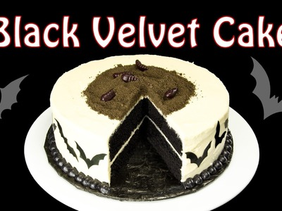 Black Velvet Cake Part 1 - Halloween Cake by Cookies Cupcakes and Cardio