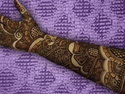 Bridal Mehandi Design Tutorial Step By Step