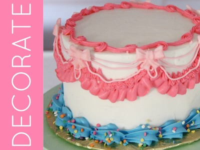 Cake Decorating 101 (Part 3): Piping Techniques & Tricks for How To Decorate A Fun Party Cake