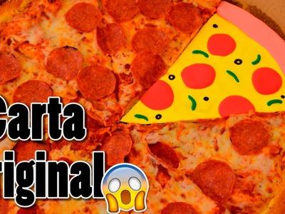 CARTA EN FORMA DE PIZZA - CARTA ORIGINAL PARA TU NOVIO