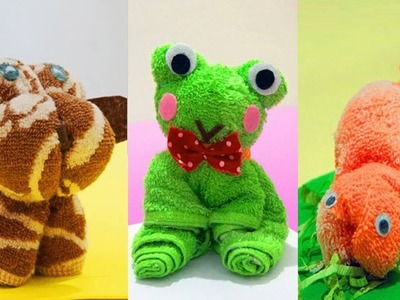 DIY Ideas Washcloth Animal - 6 DIY Crafts for Kids