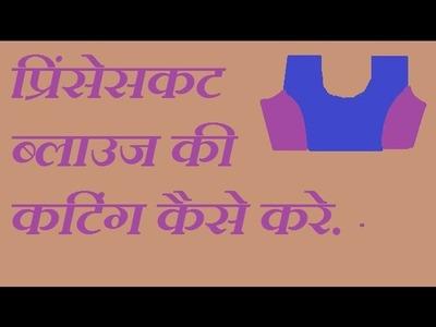 DIY ! प्रींसेसकट ब्लाउज कटिंग कैसे करते है?.how to cutting princess cut blouse in hindi