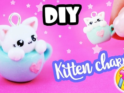 DIY KITTEN in mug CHARM!! - So Cute!! | Kawaii Friday