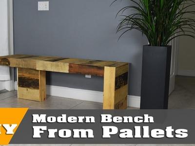 DIY Modern Pallet bench   DIY Build