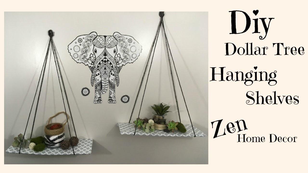Dollar Tree Diy Hanging Shelves 3 Zen Home Decor My