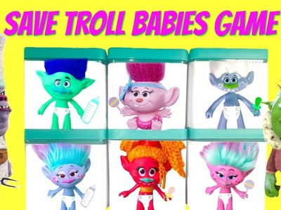 Dreamworks Trolls Movie Save the Baby Poppy Branch Trolls Game   Disk Drop