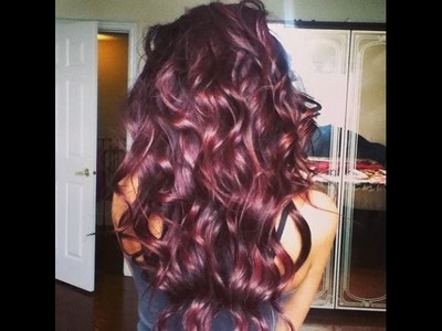 How to achieve a deep burgundy hair colour