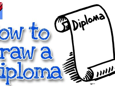 How to draw a Graduation Scroll real easy - for kids and beginners