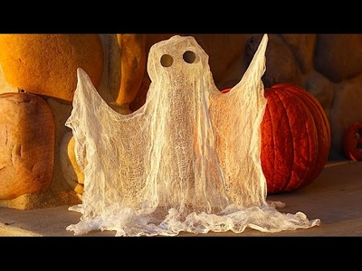 How To Make a Floating Ghost Halloween Decoration!