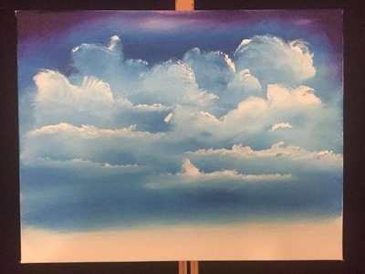 How to paint easy clouds (acrylic)
