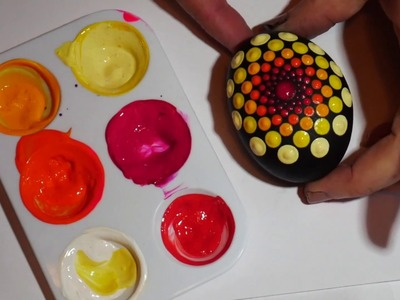 How to paint rock mandalas #9-Vibrant Eggs
