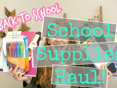 HUGE Back To School Supplies Haul Pt.2!! Staples and Office Depot!!