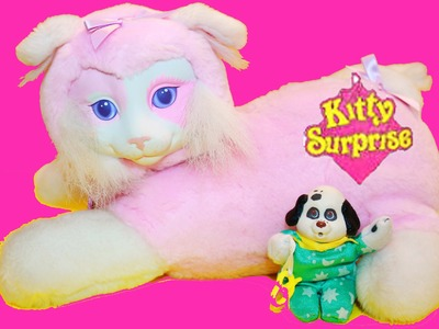 HUGE Surprise KITTY SURPRISE Toy Video VINTAGE Puppy Surprise Dog Toys Fun Giant Lots of Cats