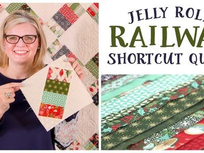 Jelly Roll Railway Shortcut Quilt - Fat Quarter Shop