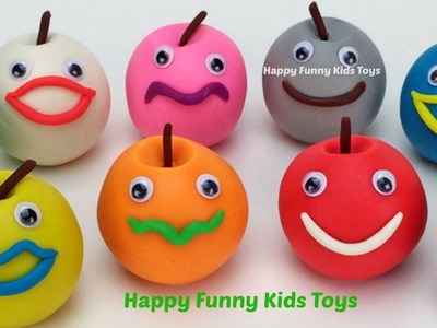 Learn Colors with Play Doh Apple Smiley Face PJ Masks Ice Cream Fun & Creative for Kids Children