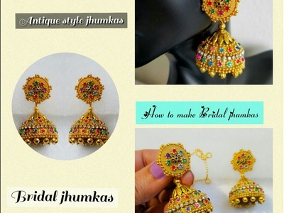 Making Bridal Jhumkas with Quilling