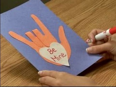 Making Valentine's Day Crafts for Kids : How to Make a Valentine's Day Card for Kids