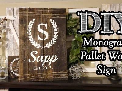 Monogram Pallet Wood Sign