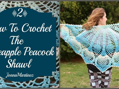 Pineapple Peacock Shawl (PART 2)