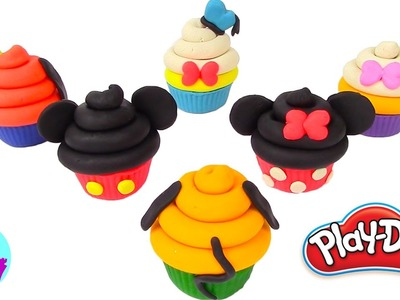 Play Doh Cake and Ice Cream Mickey Mouse Cupcakes Disney Rainbow Learning Diy Castle Toys