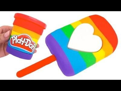 Play Doh Rainbow Ice Cream and Popsicle Toys for Kids RL