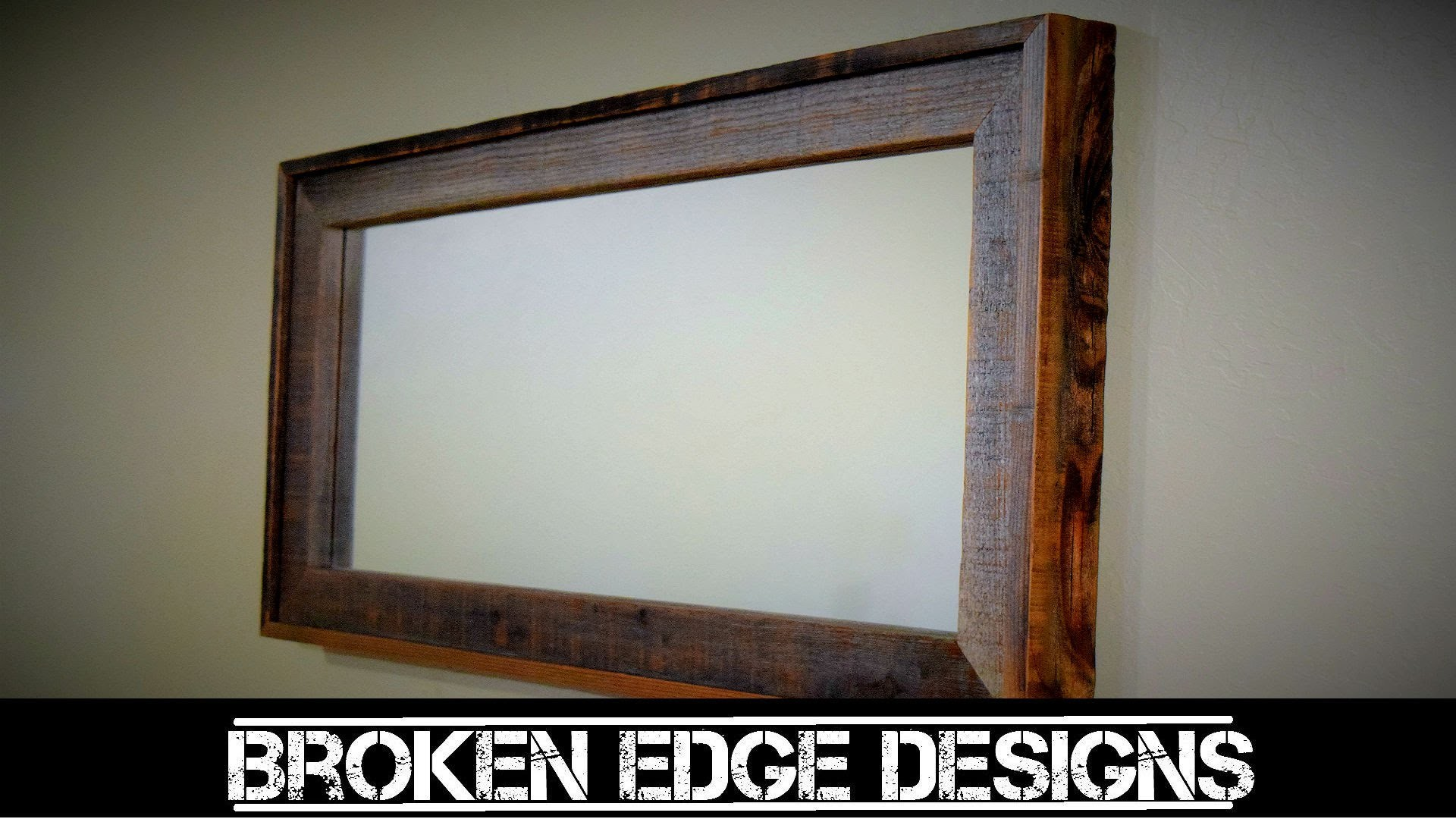 Reclaimed wood mirror frame for Wooden mirror frames for crafts