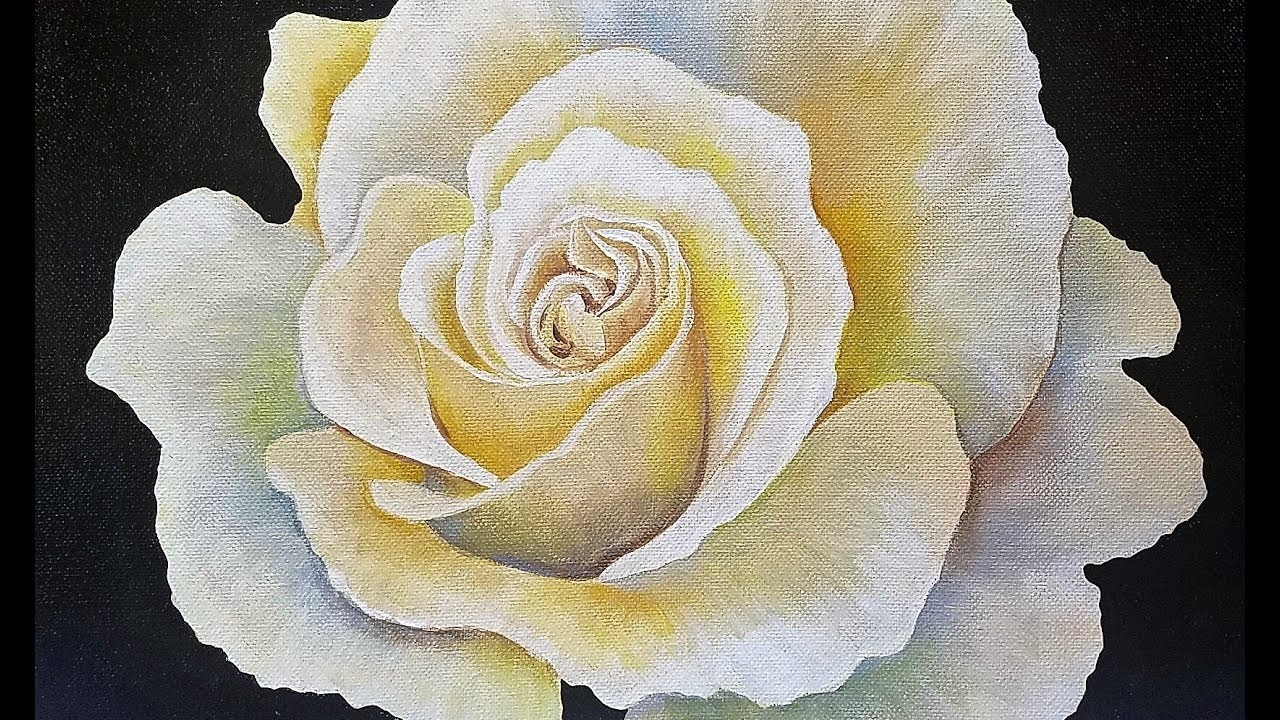 Rose painting tutorial step by step live free acrylic fine for How to paint a rose in watercolor step by step